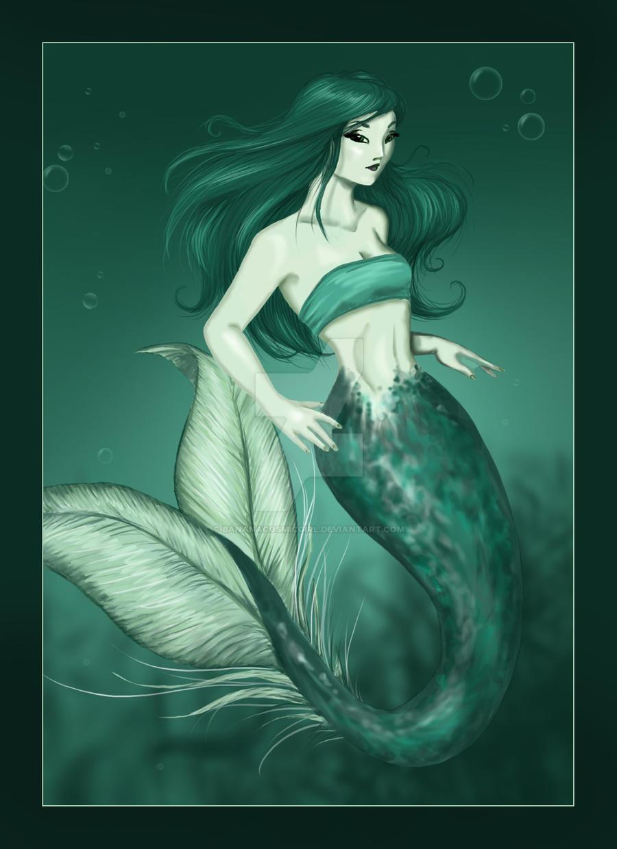 Mermaid - old stuff colored