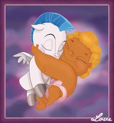 Baby Hercules and Pegasus by bananacosmicgirl