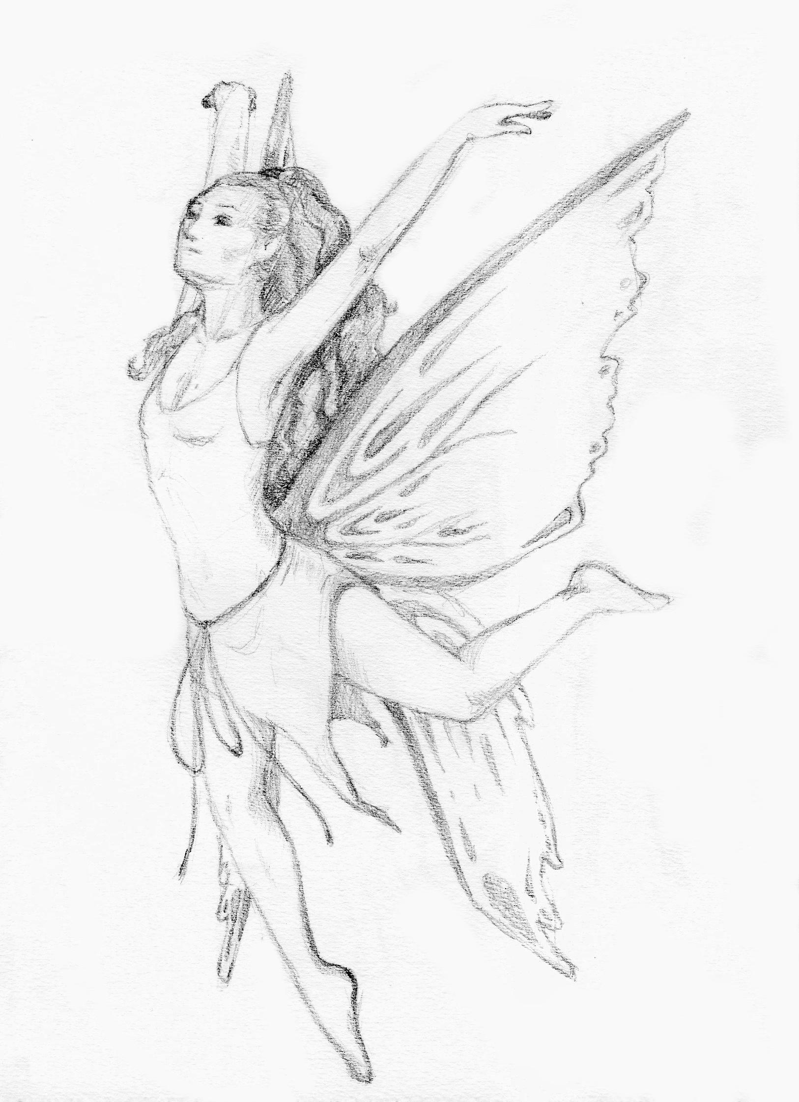 Flying fairy by bananacosmicgirl on DeviantArt