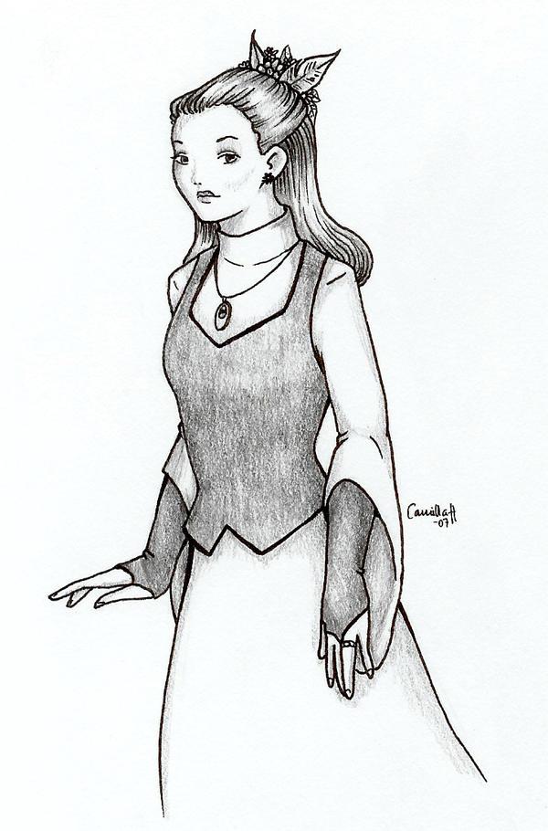 Natalie Winters in dress