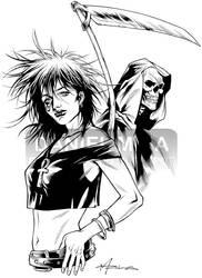 Vertigo's Death 2009 ink by daniel-maia