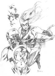 Miss Marvel 2006 pen by daniel-maia