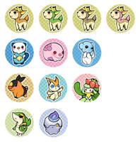 Pokemon Black-White Pins by psycho-kitty