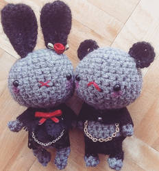 Gothy little plushies