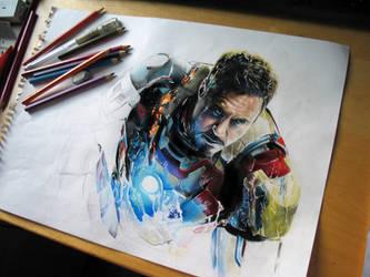 Tony's rise   -   iron man by EnergizerII
