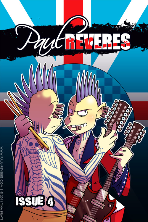 The Paul Reveres Issue 4 Cover by jiggly