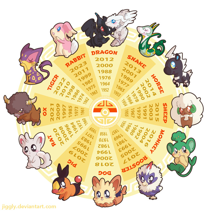 Japanese New Year Calendar : Bw pokemon zodiac calendar by jiggly on deviantart