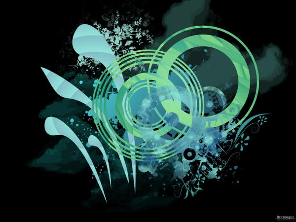 Blue - Green Vector Wallpaper by firetongue8