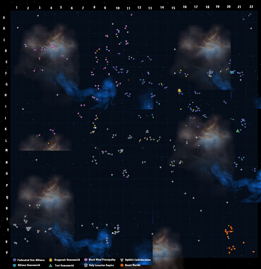 TZARWOC Universe Map by Zakuno2