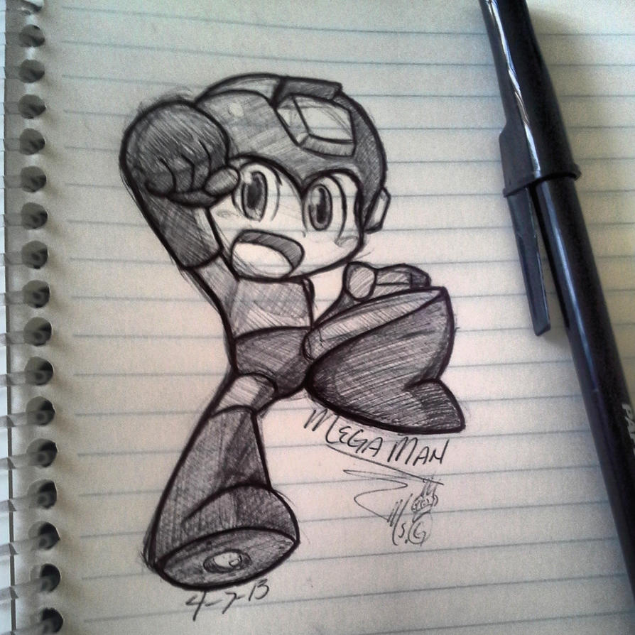 Chibi Megaman by MsGameQueen