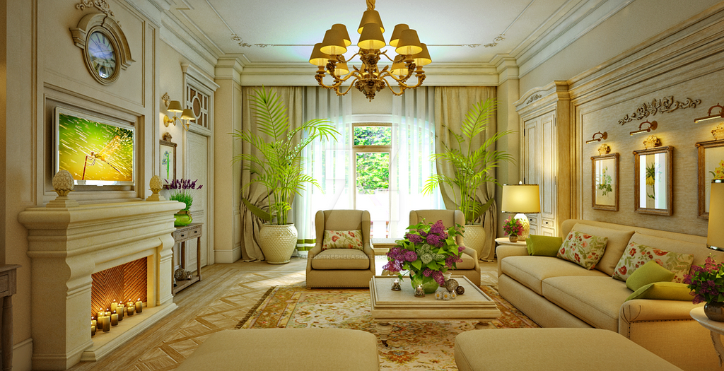 Design Interior Traditional Living Room By ValeryTkeshelashvili On DeviantArt