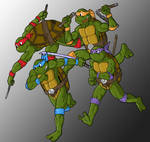 TMNT Group Running