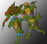TMNT Group Running
