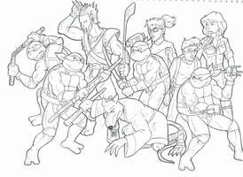 Turtles Group Sketch1P8 by pedlag