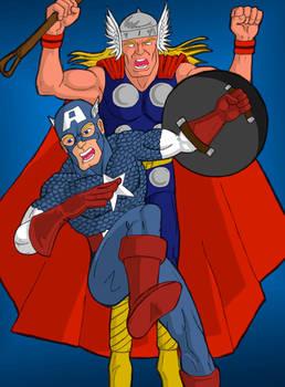 Cap and Thor SB75