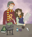 Studying Potions - Colored