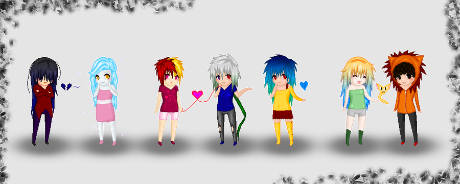 My 7 Main Oc's~ Chibi Style! by Tabii-Chan
