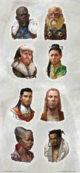 NPC Character portraits by OlgaDrebas