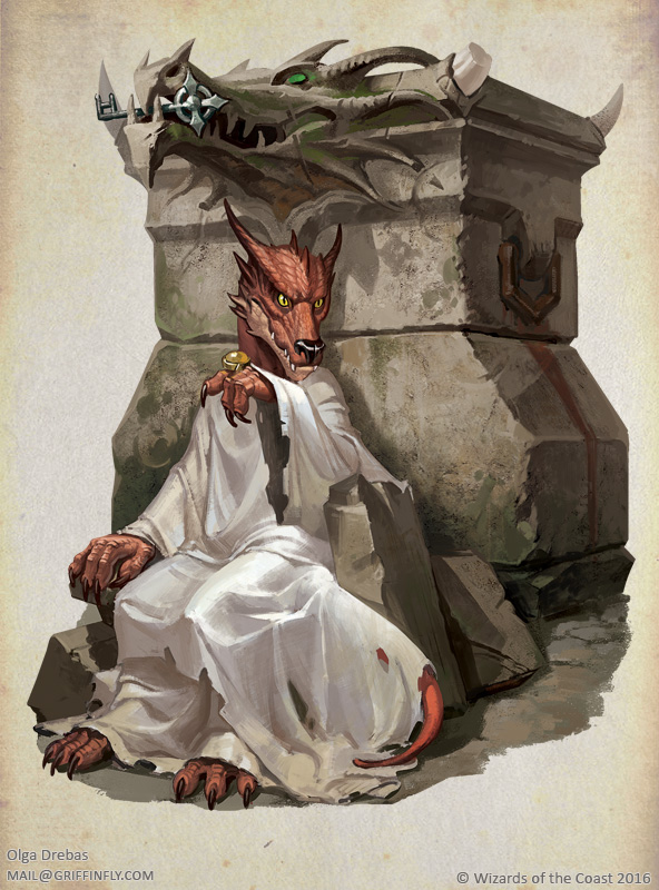 Yusdrayl queen of Kobolds by OlgaDrebas