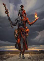 Eshu Guardian of the Paths by OlgaDrebas