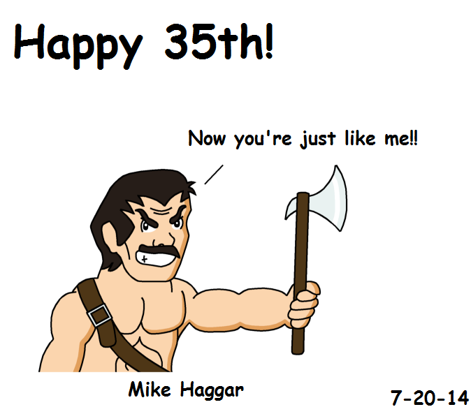 Mike Haggar Birthday Card by RisanF