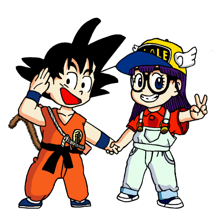 Goku And Arale (hands-edit) By RisanF On DeviantArt