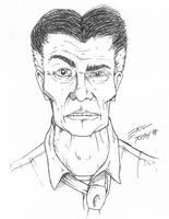 DeMartino Pen Sketch by NeckStander