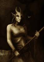 Dire Enchantress by Digl