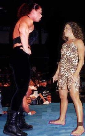 Jungle Girl vs Bodybuilder wrestling by WomenWrestlingLover