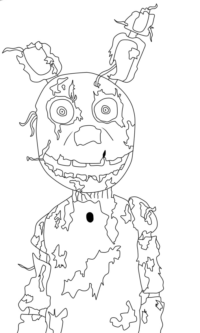 Fnaf Spring Trap Free Coloring Pages