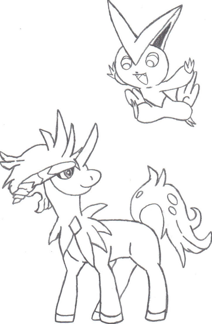 pokemon keldeo coloring pages - photo#13