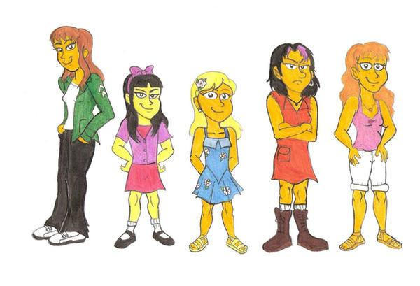 Bart's girlfriends by Violeta960