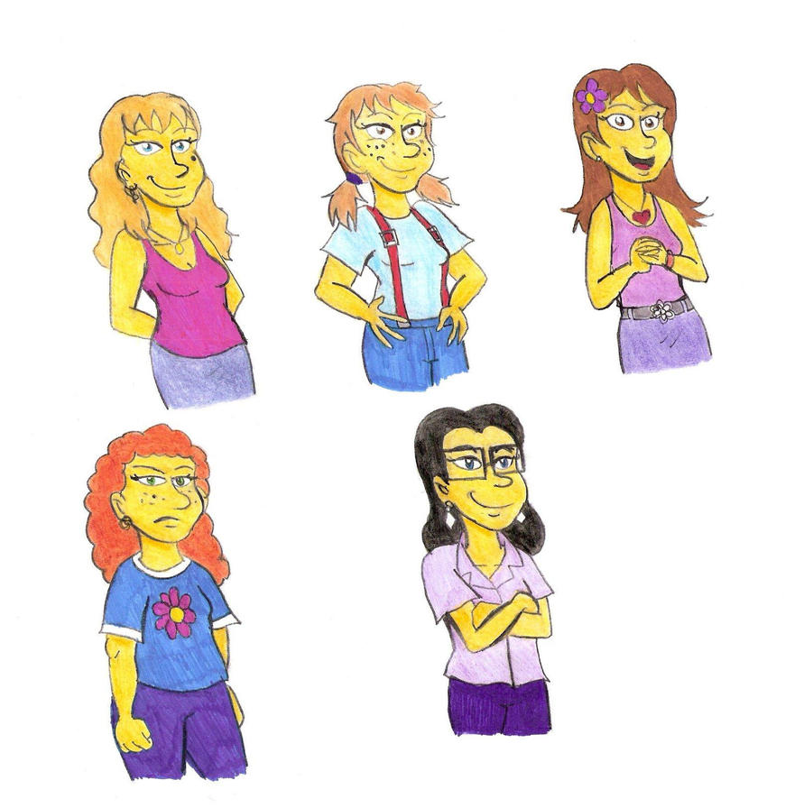 Even more Simpsons girls by Violeta960