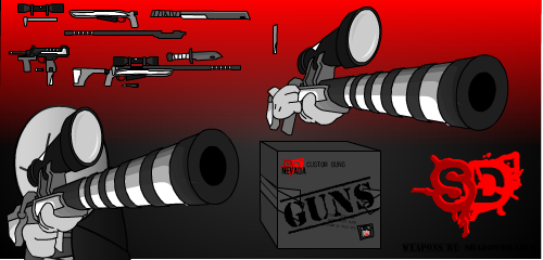 Custom Guns by ShadowDrakus