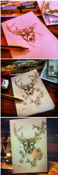 Stag in blossom