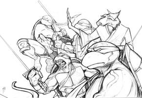 TMNT team by A-Muriel