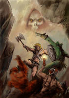 Masters of Universe fight by A-Muriel