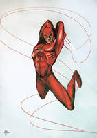 Daredevil color sketch by A-Muriel
