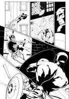 Daredevil page sample 4 by A-Muriel