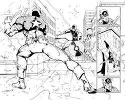 Daredevil page sample 2-3 by A-Muriel