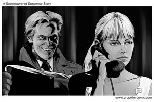 Hitchcock/Superhero Movies Mash-Up 2 by A-Muriel