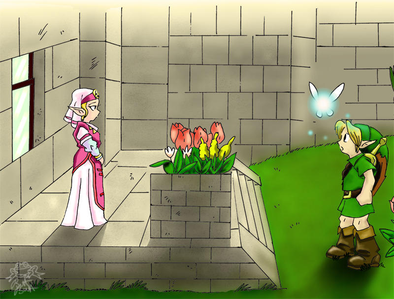 link and zelda by bretty256