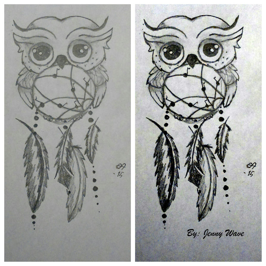 Owl dreamcatcher drawing - photo#8