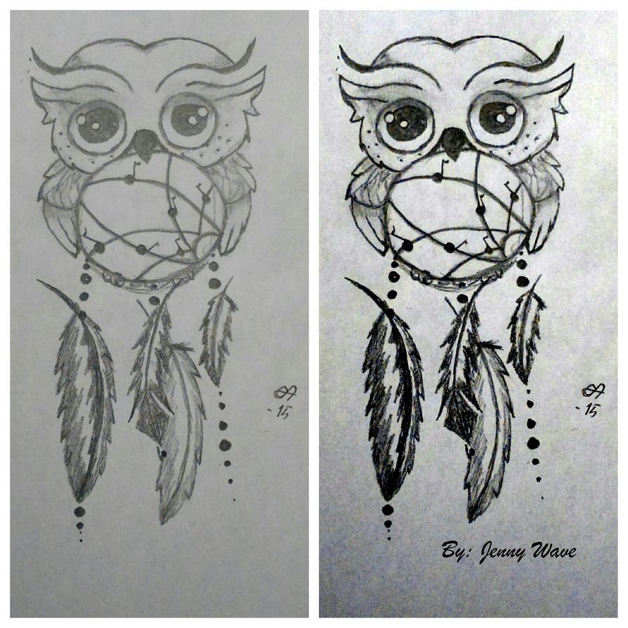 Owl dreamcatcher drawing - photo#8