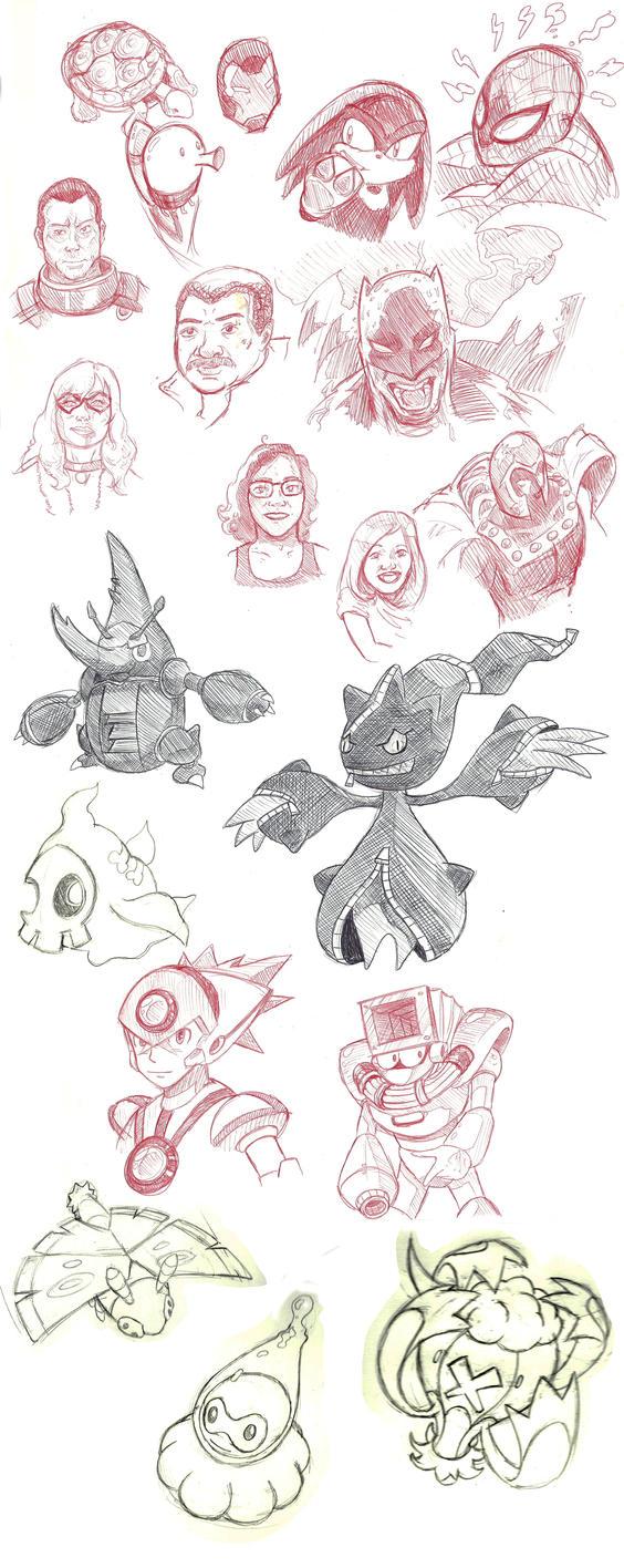 Sketch Dump Nov 14 by metalhartrockandroll