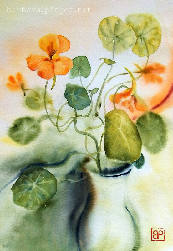 Wicked Nasturtiums by stokrotas