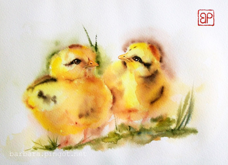 Wild chickens by stokrotas