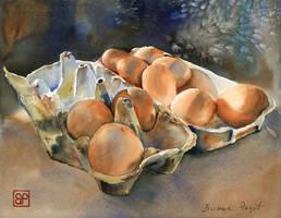 Jajka w indygo/ Indigo eggs
