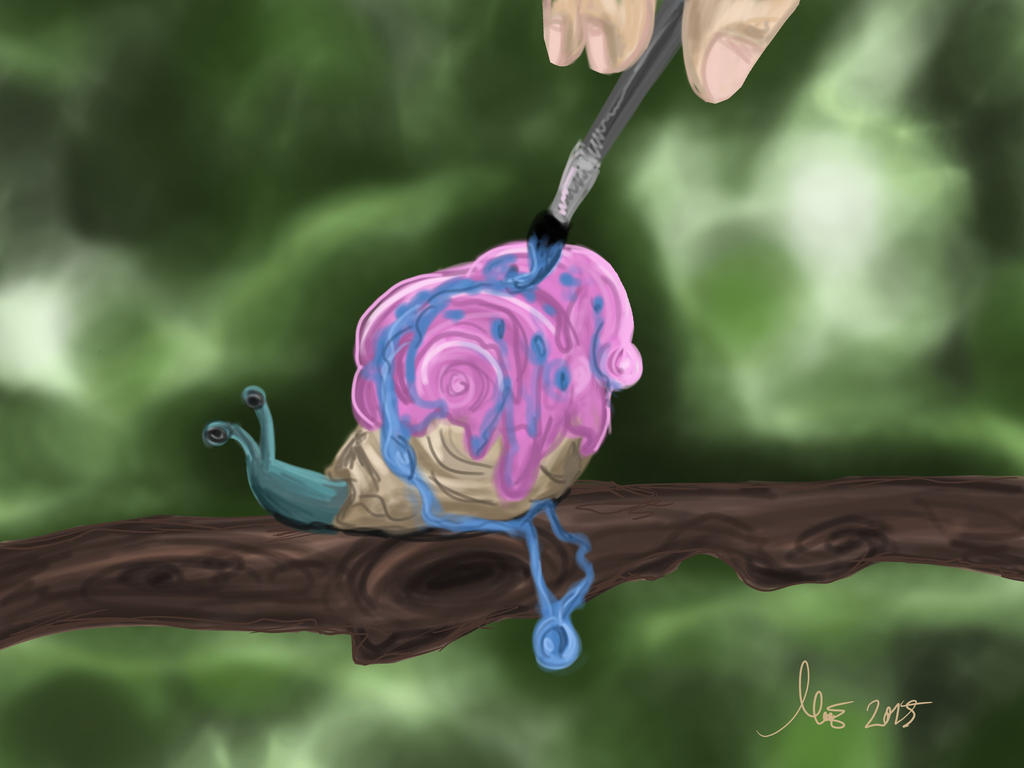 Realistic Gary the Snail by LOSHComixfan