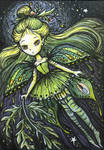 The Green Fairy, ACEO ATC